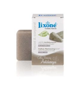 jabón con piedra pómez